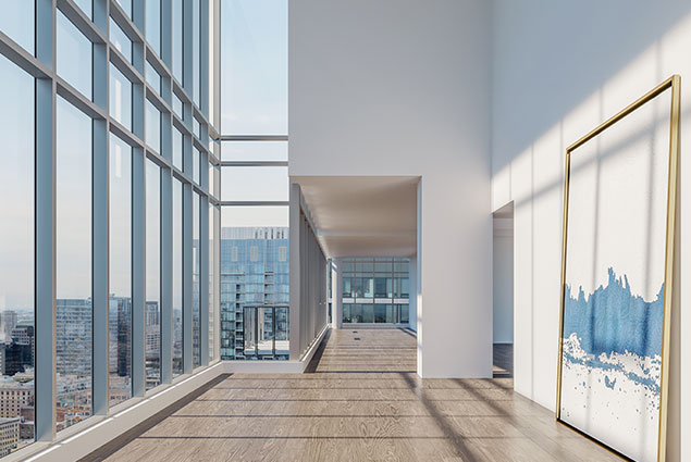 Inside view of a Downtown YUL penthouse in Montreal