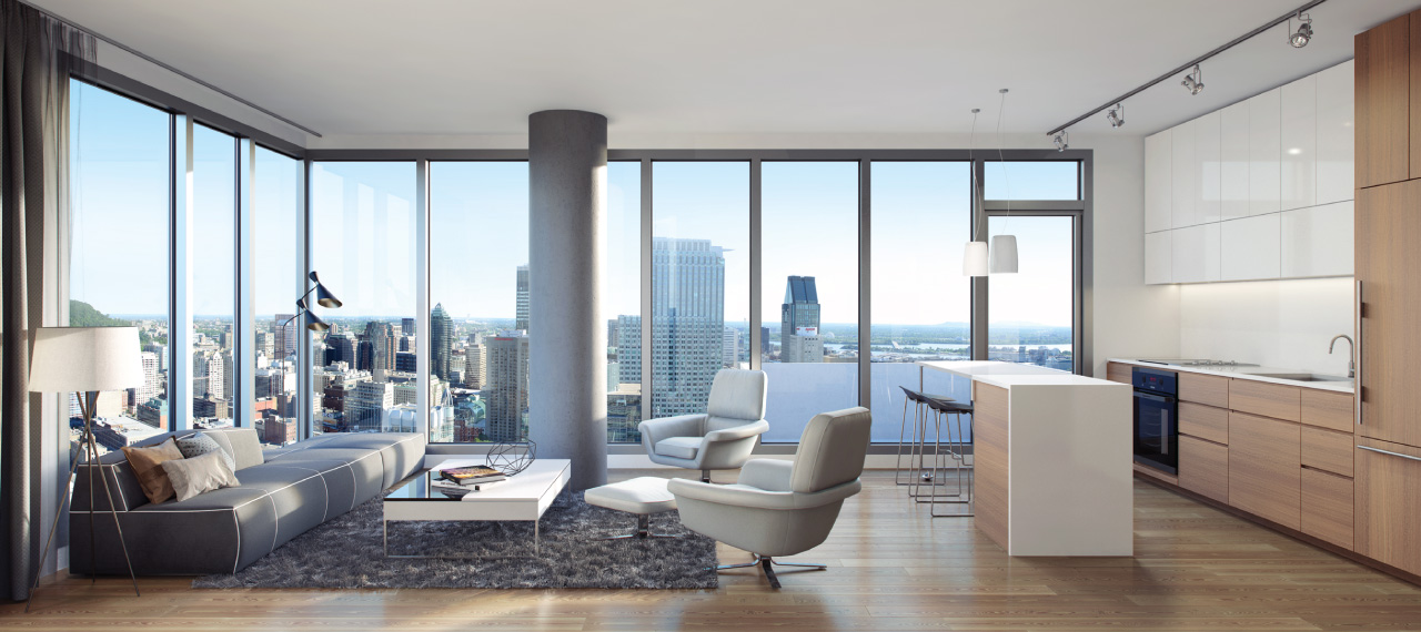 Interior of a Downtown YUL condo